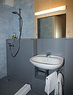 Sanitärbereich Mitarbeiterzimmer